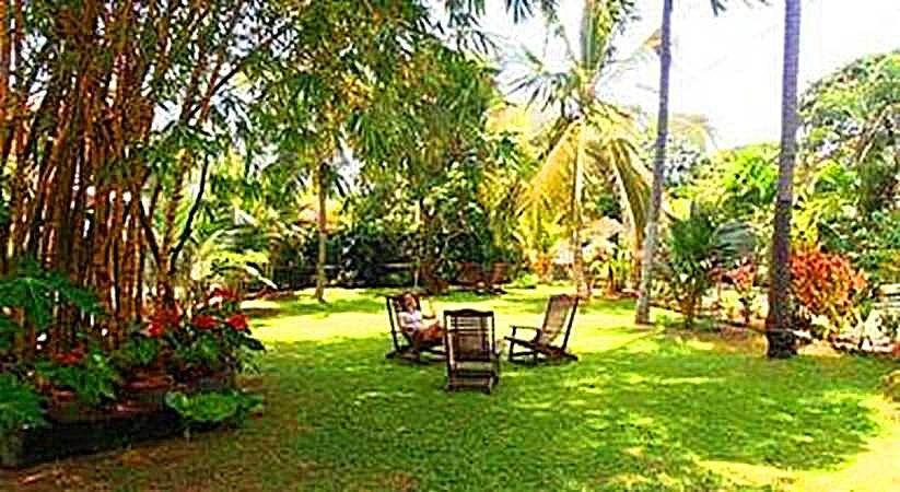 Garten der Villa Sarana