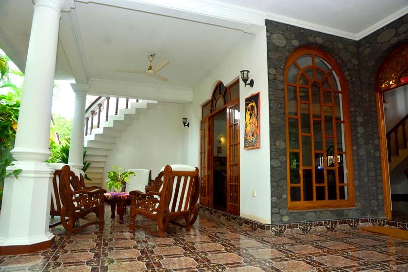 Der Eingangsbereich der Ayurveda Villa