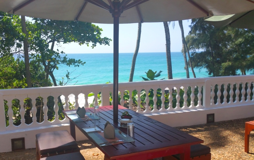 Blick vom Restaurant